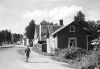 Puutaloja. Kuva: Odert Lackschéwitz, Riihimäki