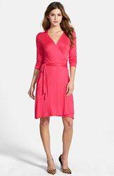Loveappella Seamed Wrap Dress (Regular & Petite)