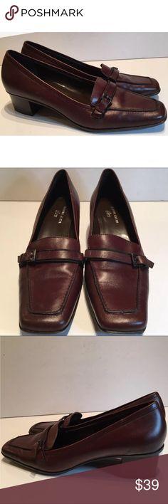 ak anne klein Iflex Heels Aklarkin Brown Leather. #shopmycloset #poshmark #fashion #shopping #style #forsale #Anne Klein #Shoes