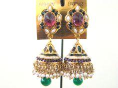 Earrings Jhumka Handmade Meenakari Indian by StoreUtsavFashion