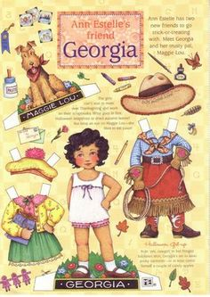 Georgie - cowgirl paper doll by Mary Engelbreit