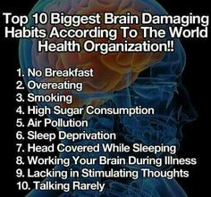 via More Psychology Hacks Here – Life Hackable. Almost all of this list of brain damaging habits are things more likely to affect people in poverty. I am so sorry for my redundancy at times b… Health Facts, Health And Nutrition, Health Tips, Health And Wellness, Health Fitness, Daily Life Hacks, Vida Natural, Tips & Tricks, Sleep Deprivation