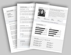 CV template 270. Laat de lay-out van je CV pimpen en eventueel de tekst optimaliseren. www.mooicv.nl Cv Template, Templates, Bullet Journal, Stencils, Resume Templates, Vorlage, Models