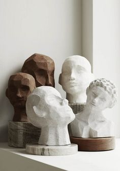 How to create a mood board for your home in 3 steps Skandinavisch Modern, Sculptures Céramiques, Sculpture Clay, Modern Art Sculpture, Geometric Sculpture, Sculpture Ideas, Abstract Sculpture, Ideias Diy, Ceramic Art
