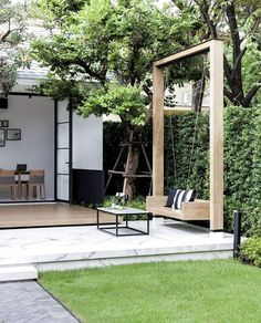 Best Small Backyard Landscape Design Ideas For Your Garden Mainly designed for entertainment purposes and for extended living areas, backyard landscaping designs can be as detailed as needed to … Cozy Backyard, Backyard Patio Designs, Small Backyard Landscaping, Landscaping Ideas, Backyard Pools, Luxury Landscaping, Cool Backyard Ideas, Modern Backyard Design, Backyard Decorations