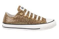 Glitter Gold Converse for my wedding shoes, of course