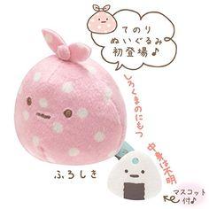 San-x Sumikko Gurashi Plush 2'' Wrapping Cloth w/ Mini Rice Ball