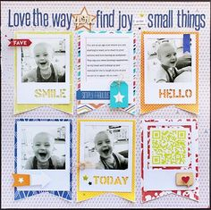 The Small Things layout by Gail Lindner featuring Jillibean Soup Saffron Yellow Pepper Soup and Summer Red Raspberry Soup