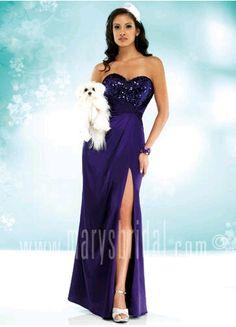 Astra Formal - Kiss Kiss 3652   Size 8 Purple Mary's Bridal, Strapless Dress Formal, Formal Dresses, Kiss, Romantic, Gowns, Purple, Shape, Fashion