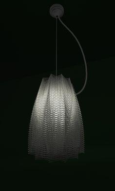 pendant white nylon 3d print studioluminaire