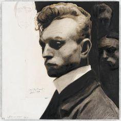 Self portrait with masks, 1903, Léon Spilliaert (1881-1946) / musée d'Orsay
