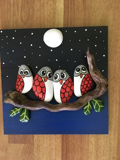Rock painted owls in love unique 3 d paintings by roberto rizzo owls handmade fineart paintings love heart salvabrani'vogelkaka' painted rocks birds on driftwood jl – ArtofitArts And Crafts Ideas Refferal: are Beautiful Pebble Art Id 3d Painting, Pebble Painting, Pebble Art, Stone Painting, Stone Crafts, Rock Crafts, Arts And Crafts, Art Crafts, Art For Kids