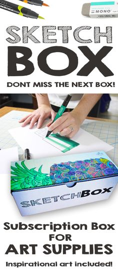 Every Month we send you new art supplies to create with! What will you make?