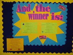 The poster I created to announce the winners of the Class Assignment Day, Save Over Summer raffle.  Prizes were presented at our PTO sponsored Back to School Ice Cream Social.