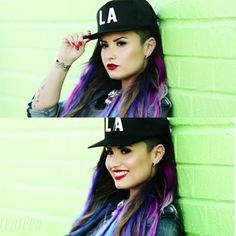 #hair #hat #demilovato - pretty self explanatory