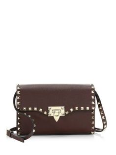 Valentino Garavani - Rockstud Grain Leather Crossbody Bag