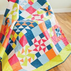 Sampler Quilts have become SEW EASY to cut and assemble with @AccuQuilt GO! Cube Mix & Match fabric dies!