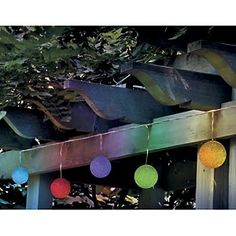 String of 10 Solar Color-Changing Patio Lights by Improvements at HSN.com.