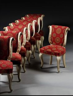 w - A SET OF EIGHT DINING CHAIRS RUSSIAN, MID 19TH CENTURY