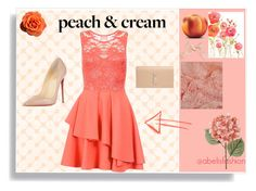 """Peach and cream"" by abelis on Polyvore featuring moda, Dorothy Perkins, Christian Louboutin y Yves Saint Laurent"