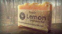 Lemon Shampoo All natural shampoo bar by DarkWoodsSoapCompany, $6.50