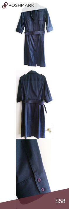 558be98fe94c Thomas Pink Navy Belted Shirt Dress US 10 UK 14 This work dress has a crisp