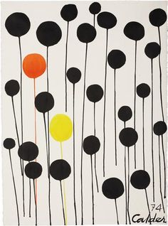 Alexander Calder, Red and Yellow Among Blacks, 1974
