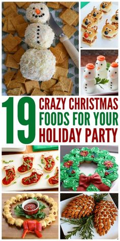 19 Crazy Christmas Food Ideas There is something to be said for tradition. But why not make new traditions with these fun, cute, and creative Christmas food ideas. Christmas Potluck, Christmas Party Food, Xmas Food, Christmas Appetizers, Christmas Cooking, Christmas Desserts, Holiday Treats, Christmas Treats, Holiday Recipes