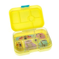 Yumbox Original Bento Lunchbox – Yellow – available in NZ from www.thelunchboxqueen.co.nz