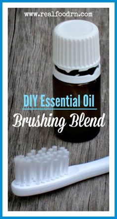 DIY Essential Oil Brushing Blend. A great blend that you can make to help keep your gums healthy, teeth clean, and breath fresh. Dramatically reduces the bacteria count in your mouth! realfoodrn.com