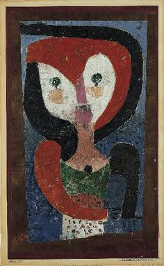 'Maid of Saxony' (1922) by Paul Klee--  paint a Modigliani-like piece using these colours