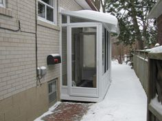 Porch enclosures, entrance rooms, entrance vestibules, mudrooms, all you need to protect your home from the elements. Basement Entrance, Basement Windows, Basement Stairs, Entrance Doors, Entrance Ideas, Retaining Wall Pavers, Bilco Doors, Patio Stairs, Stair Railing