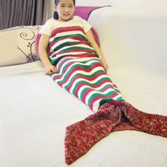 SHARE & Get it FREE | Color Block Stripe Crochet Mermaid Tail Style BlanketFor Fashion Lovers only:80,000+ Items·FREE SHIPPING Join Dresslily: Get YOUR $50 NOW!