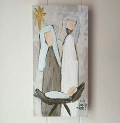 18 simple Christmas canvas painting ideas for kids - 18 Simple Christmas Canvas Painting Ideas For Children Wicked 18 Easy Christmas – Ideas For Canva - Nativity Crafts, Christmas Nativity, Christmas Signs, Rustic Christmas, Christmas Projects, Simple Christmas, Holiday Crafts, Christmas Decorations, Homemade Christmas
