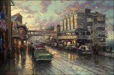 Cannery Row Sunset by Thomas Kinkade