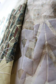 Contemporary textiles design for fashion with geometric prints & embroidery for colour & contrast // Priya Hasnat