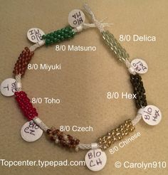 Beads for Braiders Info-torial #1: Size 8/0 seed beads - Kumihimo Disk & Plate
