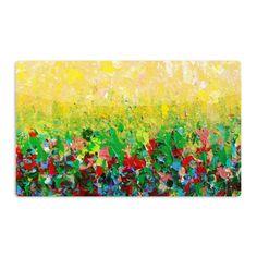 """Ebi Emporium """"My Paintings"""" Yellow Multicolor Aluminum Artistic Magnet"""