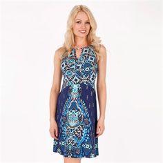 Donna Morgan Larissa Printed Matte Jersey Dress with Cutout  from Von Maur #vonmaur #cutout