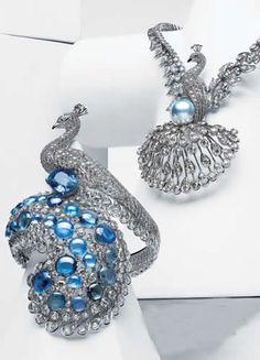 Cartier peacock ring & necklace