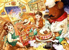 Drawing Scenery, Korean Art, Manga Drawing, Graphic Illustration, Illustrations, Amazing Art, Cool Art, Concept Art, Anime Art