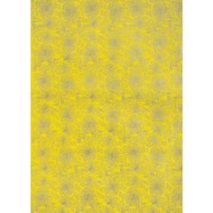 Chrysanthemum Gold on Yellow Fine Paper - Paper Source