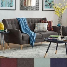 Shop for Niels Danish Modern Button Tufted Linen Fabric Sofa by MID-CENTURY LIVING. Get free shipping at Overstock.com - Your Online Furniture Outlet Store! Get 5% in rewards with Club O!