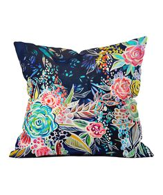 Look what I found on #zulily! Night Bloomers Throw Pillow by DENY Designs #zulilyfinds