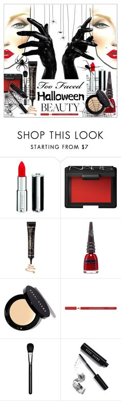 """Halloween Makeup"" by calamity-jane-always ❤ liked on Polyvore featuring beauty, M.A.C, Givenchy, NARS Cosmetics, Too Faced Cosmetics, Manic Panic NYC, Bobbi Brown Cosmetics, Bourjois, MAC Cosmetics and maccosmetics"