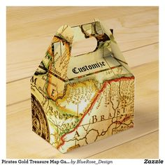 Pirates Gold Treasure Map Gable Favor Box Pirate Party Invitations, Pirates Gold, Treasure Maps, Pirate Birthday, Favor Boxes, Bar Mitzvah, Party Hats, Colorful Backgrounds, Card Stock