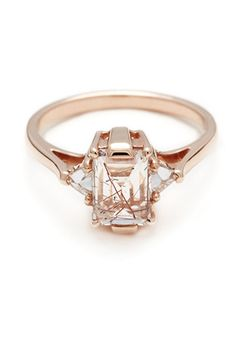 Anna Sheffield Quartz Bea Engagement Ring