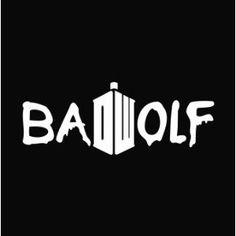 """Doctor Who Bad Wolf DW Logo Vinyl Die Cut Decal Sticker 7"""" White"""