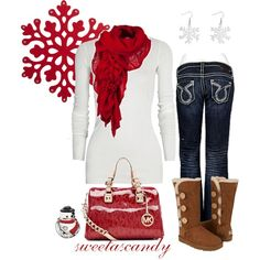 Winter fashion: 8 ways to wear uggs clothes зимний стиль, ст Christmas Day Outfit, Christmas Fashion, Christmas Clothes, Christmas Shopping, Christmas Time, Christmas Gifts, Christmas Morning, Christmas Photos, Red Christmas