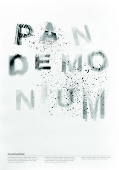 42 best typography experiments gr 613 images on pinterest zheng selected word poster project fandeluxe Choice Image
